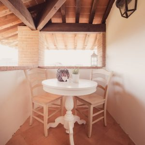 Terrazza con tavolino e vista sul mare di San Vincenzo - Appartamento in affitto Grecò - GH Lazzerini Holidays, San Vincenzo, Toscana