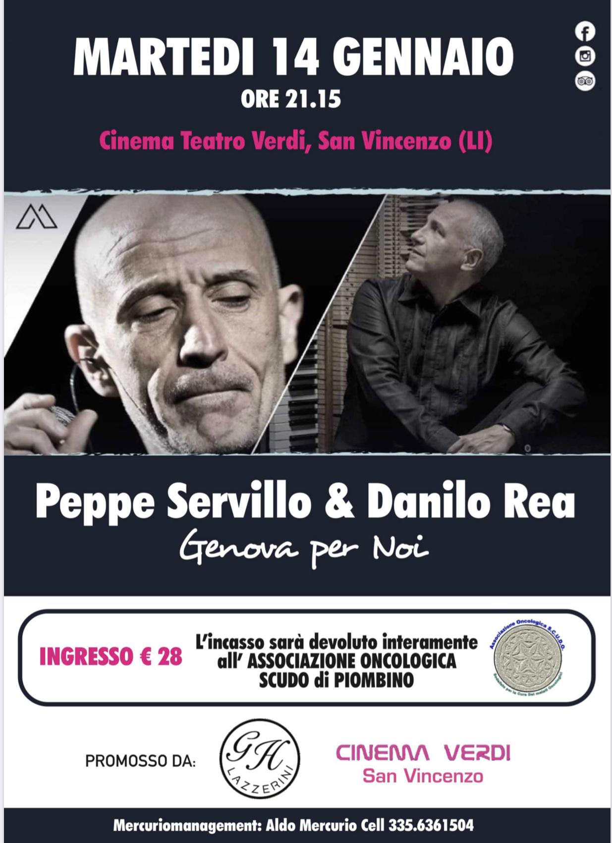 concerto di Danilo Rea e Peppe Servillo - San Vincenzo