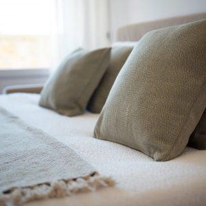 divano letto, tessuti naturali